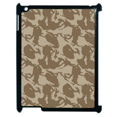 Initial Camouflage Brown Apple Ipad 2 Case (black) by Mariart