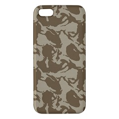 Initial Camouflage Brown Iphone 5s/ Se Premium Hardshell Case by Mariart