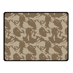 Initial Camouflage Brown Double Sided Fleece Blanket (small)  by Mariart