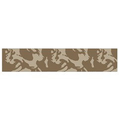 Initial Camouflage Brown Flano Scarf (small) by Mariart