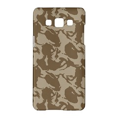Initial Camouflage Brown Samsung Galaxy A5 Hardshell Case  by Mariart