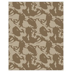 Initial Camouflage Brown Drawstring Bag (small) by Mariart