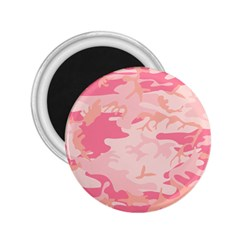 Initial Camouflage Camo Pink 2 25  Magnets by Mariart