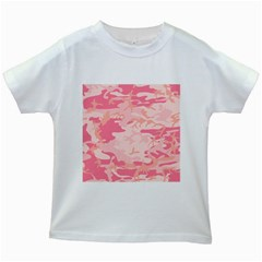 Initial Camouflage Camo Pink Kids White T Shirts by Mariart