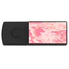 Initial Camouflage Camo Pink Usb Flash Drive Rectangular (4 Gb) by Mariart