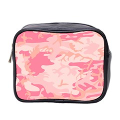 Initial Camouflage Camo Pink Mini Toiletries Bag 2 Side by Mariart
