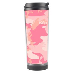 Initial Camouflage Camo Pink Travel Tumbler by Mariart
