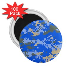 Oceanic Camouflage Blue Grey Map 2 25  Magnets (100 Pack)  by Mariart