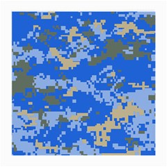 Oceanic Camouflage Blue Grey Map Medium Glasses Cloth by Mariart