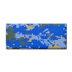 Oceanic Camouflage Blue Grey Map Cosmetic Storage Cases by Mariart