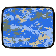 Oceanic Camouflage Blue Grey Map Netbook Case (xxl)  by Mariart