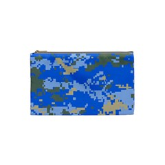 Oceanic Camouflage Blue Grey Map Cosmetic Bag (small)  by Mariart