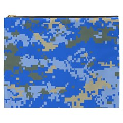 Oceanic Camouflage Blue Grey Map Cosmetic Bag (xxxl)  by Mariart
