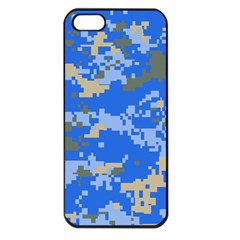 Oceanic Camouflage Blue Grey Map Apple Iphone 5 Seamless Case (black) by Mariart