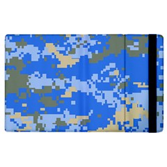 Oceanic Camouflage Blue Grey Map Apple Ipad 3/4 Flip Case by Mariart