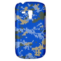 Oceanic Camouflage Blue Grey Map Galaxy S3 Mini by Mariart