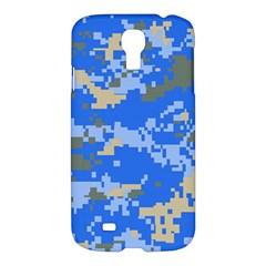 Oceanic Camouflage Blue Grey Map Samsung Galaxy S4 I9500/i9505 Hardshell Case by Mariart
