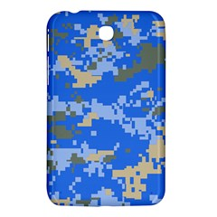 Oceanic Camouflage Blue Grey Map Samsung Galaxy Tab 3 (7 ) P3200 Hardshell Case  by Mariart