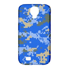 Oceanic Camouflage Blue Grey Map Samsung Galaxy S4 Classic Hardshell Case (pc+silicone) by Mariart