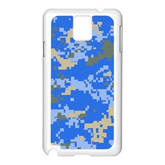 Oceanic Camouflage Blue Grey Map Samsung Galaxy Note 3 N9005 Case (white) by Mariart