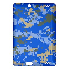 Oceanic Camouflage Blue Grey Map Amazon Kindle Fire Hd (2013) Hardshell Case by Mariart