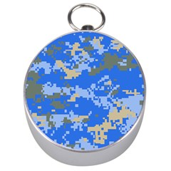Oceanic Camouflage Blue Grey Map Silver Compasses by Mariart