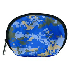 Oceanic Camouflage Blue Grey Map Accessory Pouches (medium)  by Mariart