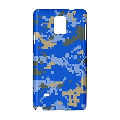 Oceanic Camouflage Blue Grey Map Samsung Galaxy Note 4 Hardshell Case by Mariart