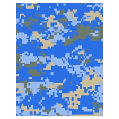 Oceanic Camouflage Blue Grey Map Drawstring Bag (large) by Mariart