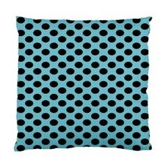 Polka Dot Blue Black Standard Cushion Case (one Side) by Mariart