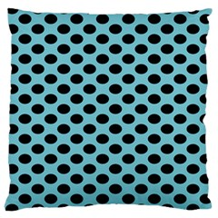 Polka Dot Blue Black Large Cushion Case (two Sides) by Mariart