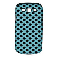 Polka Dot Blue Black Samsung Galaxy S Iii Classic Hardshell Case (pc+silicone) by Mariart