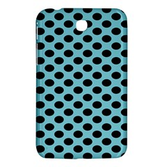 Polka Dot Blue Black Samsung Galaxy Tab 3 (7 ) P3200 Hardshell Case  by Mariart