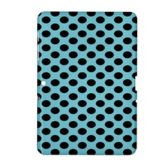 Polka Dot Blue Black Samsung Galaxy Tab 2 (10 1 ) P5100 Hardshell Case  by Mariart