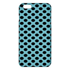 Polka Dot Blue Black Iphone 6 Plus/6s Plus Tpu Case by Mariart