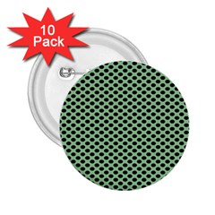 Polka Dot Green Black 2 25  Buttons (10 Pack)  by Mariart