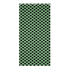 Polka Dot Green Black Shower Curtain 36  X 72  (stall)  by Mariart