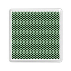 Polka Dot Green Black Memory Card Reader (square)  by Mariart