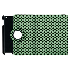 Polka Dot Green Black Apple Ipad 3/4 Flip 360 Case by Mariart