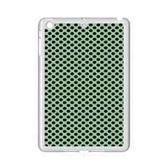 Polka Dot Green Black Ipad Mini 2 Enamel Coated Cases by Mariart