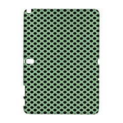 Polka Dot Green Black Galaxy Note 1 by Mariart