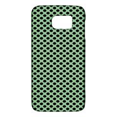 Polka Dot Green Black Galaxy S6
