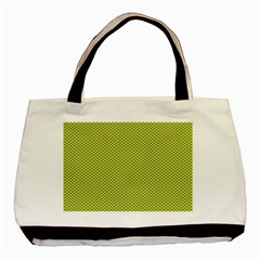 Polka Dot Green Yellow Basic Tote Bag by Mariart