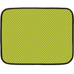 Polka Dot Green Yellow Fleece Blanket (mini) by Mariart