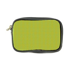 Polka Dot Green Yellow Coin Purse by Mariart