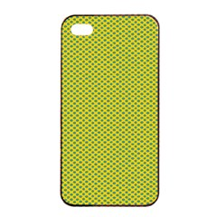 Polka Dot Green Yellow Apple Iphone 4/4s Seamless Case (black) by Mariart