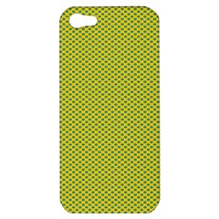 Polka Dot Green Yellow Apple Iphone 5 Hardshell Case by Mariart