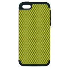 Polka Dot Green Yellow Apple Iphone 5 Hardshell Case (pc+silicone) by Mariart