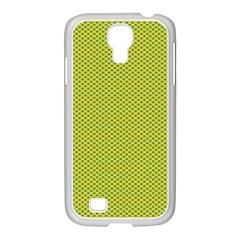 Polka Dot Green Yellow Samsung Galaxy S4 I9500/ I9505 Case (white) by Mariart