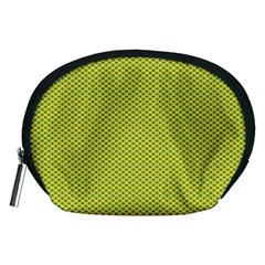 Polka Dot Green Yellow Accessory Pouches (medium)  by Mariart